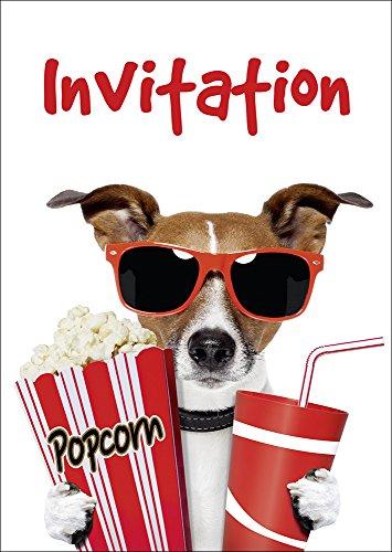 10 Invitations cinéma en Français: Lot de 10 Cartes d'Invitation cinéma pour Un Prochain Anniversaire d'Enfant au cinéma des Editon Colibri (10700 FR)