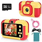 ASIUR Latest Kids Selfie Camera,Toys for 4 Year Old Girls Birthday Gift,12MP Dual Lens and 1080P Children Digital Video Camera Great Gift for Preschool Boys 4-9 with 32G SD Card (Red)