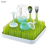 TOUTOU - Grande étagère de rangement pour biberons, vaisselle et herbe, anti-bactérien - Porte-couverts pour bébé, tasses et tétons