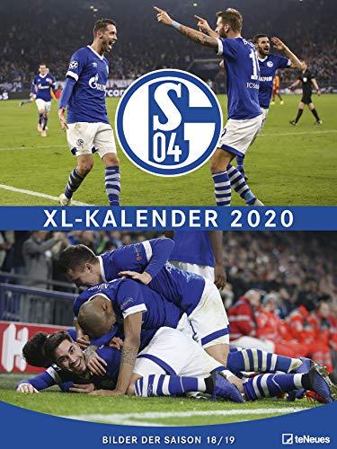 FC Schalke 04 2020 - 48x64cm - Fußballkalender - Posterkalender XL