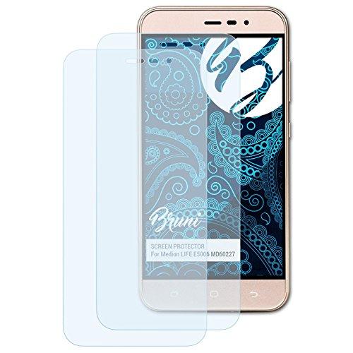 Bruni Schutzfolie kompatibel mit Medion Life E5006 MD60227 Folie, glasklare Bildschirmschutzfolie (2X)