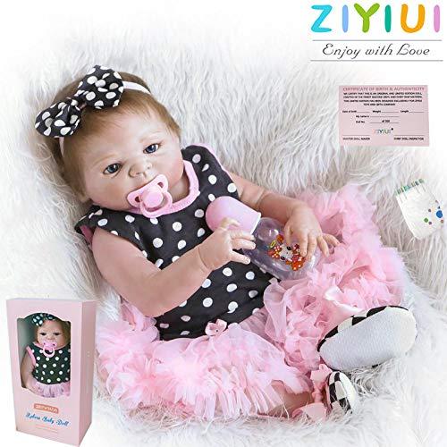 ZIYIUI 20 Pollici 50 cm Bambola Reborn Baby Pieno Corpo in Vinile Silicone Realistico Bambole Reborn Femmine Vita Reale Neonato Giocattoli
