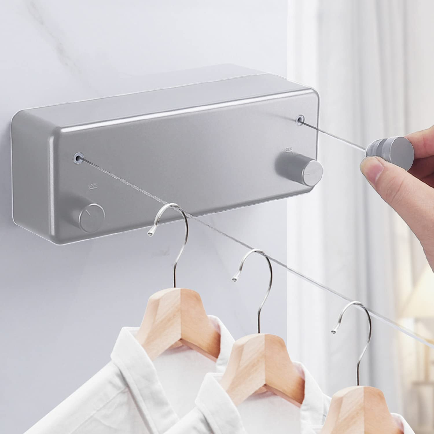 Retractable Clothesline - 13.8Feet Popularity Dry Extendable Steel Clothes Limited price sale