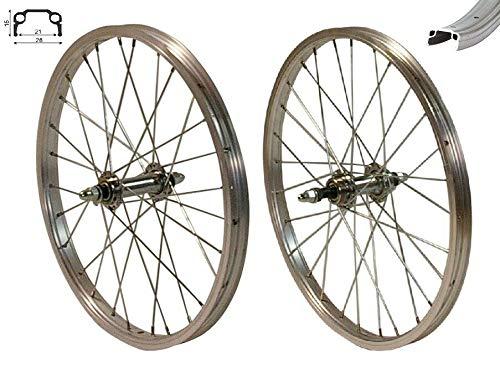 Redondo 20 Zoll Laufrad Set Hinterrad und Vorderrad Kasten Felge Silber