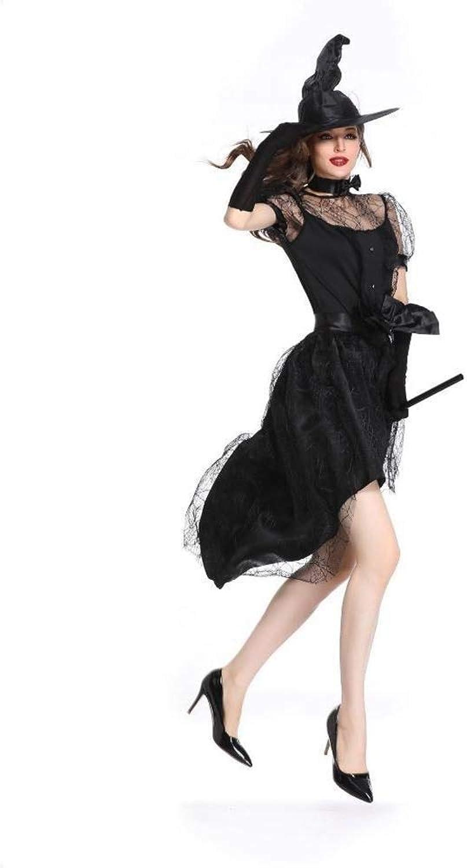 Fashion-Cos1 Schwarz Hexe Magie Halloween Cosplay Kostüm Für Frauen Kostüm Hexe Prom Kleidung Sexy Kleid Nachtclub Uniform Kostüm (Größe   M)