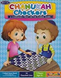 Rite Lite Chanukah Checkers Game - Hanukkah Holiday Board Game for Friends & Family