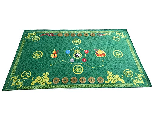 Lucky Feng Shui Bagua Map Non Slip Door Green Mat Feng...