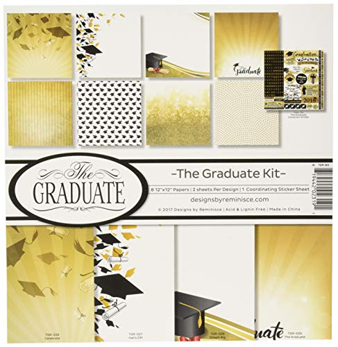 The Graduate 2018 12x12 Scrapbook Paper 5 Sheets by Reminisce
