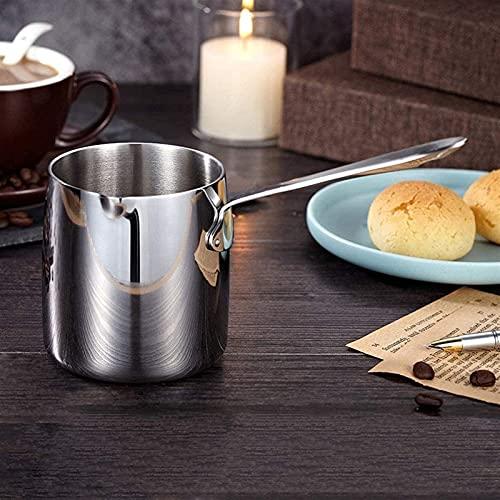 n.g. Wohnzimmeraccessoires Milchaufschäumkanne Servierkrug Milchaufschäumer Edelstahl Milchkännchen Krug für Kaffee und Tee Warme Milchkanne Weinkochtopf