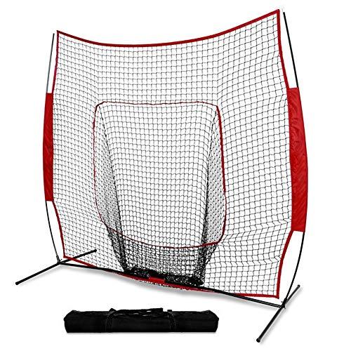 TAKE FANS Red de barrera deportiva de 3,6 m x 2,7 m | Parada trasera para béisbol, sóftbol, fútbol, baloncesto, lacrosse y hockey de campo, plegable y portátil