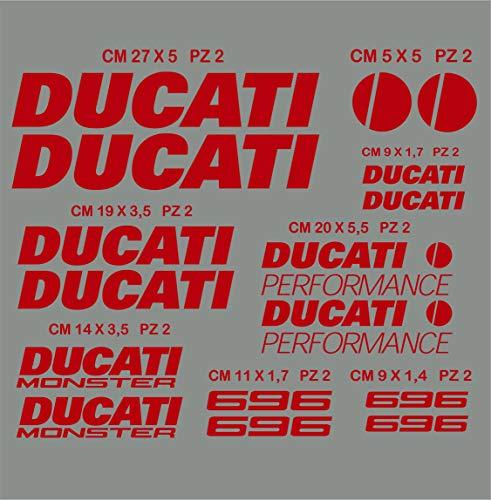 Lot de 16 autocollants Ducati Mo...