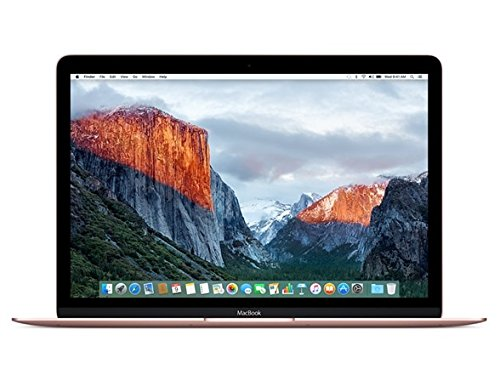 "Apple MacBook (2017) 12"" Laptop, Retina Display, Intel M3-7Y32 Dual-Core, 256GB PCI-E SSD, 8GB DDR3, 802.11ac, macOS 10.12, Rose Gold (Renewed)"