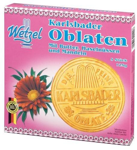 Wetzel Karlsbader Oblaten, 4er Pack (4 x 125 g)