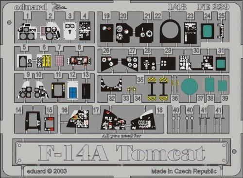 Eduard Accessories fe229 Modélisme Accessoires F-14 A Tomcat