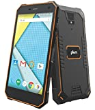 Plum Gator 4 - Rugged Smart Cell Phone Unlocked Android 4G GSM 13 MP Camera 5' HD Display IP68 Military Grade Water Shock Proof 5000 mAh - Black/Org