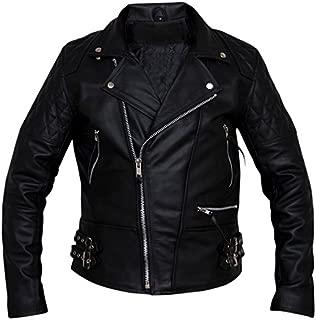 brandMe Men's Genuine Leather Pure Lambskin Biker Jacket MM062