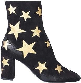 Luxury Fashion | Saint Laurent Women 5788910LIE01087 Black Leather Ankle Boots | Autumn-winter 19