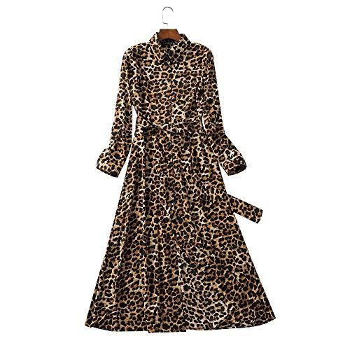 MSDRESS dames jurk print enkellange jurk stropdas sjerpen lange mouwen patroon robe maxi-jurk