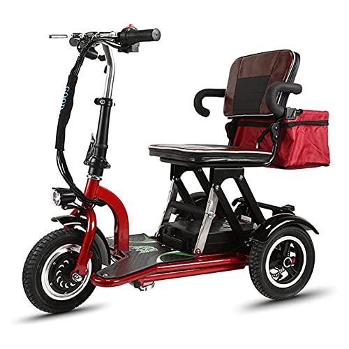 SUYUDD Scooter De Movilidad Eléctrico Plegable, Scooter De Movilidad Triciclo Portátil, Scooter...