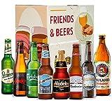 Cervezas para regalar Caja Premium Internacional : Modelo, Budweiser, Santa Monica, Judas, Staroplamen, Paulaner, Carlberg, Blue Moon I Ideas para regalar - Cervezas del mundo - importacion