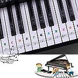 Pegatinas para pianos o teclados,Pegatinas para teclados,Etiqueta engomada del teclado de piano,Pega...