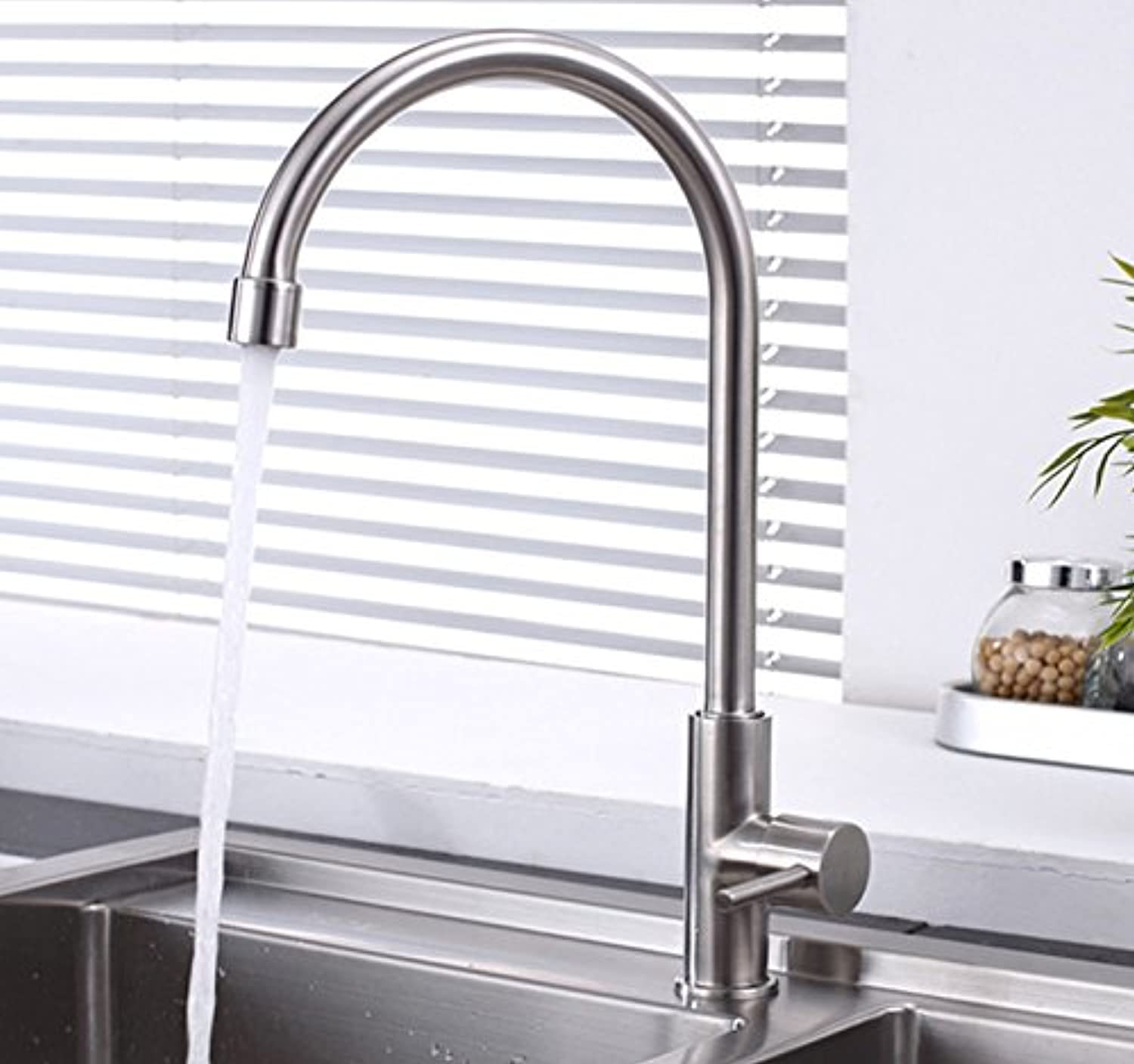 LHbox Basin Mixer Tap Bathroom Sink Faucet Hot and cold basin taps, bath single in stainless steel mixing Faucet