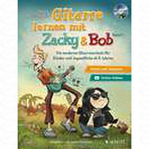Gitarre lernen mit Zacky + Bob 1 - arrangiert für Gitarre - mit CD [Noten/Sheetmusic] Komponist : AUTSCHBACH PETER