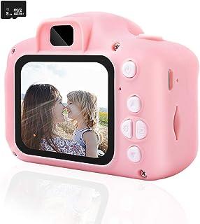 REDGO Mini Cámara de Fotos Digitales para Niños 1080P HD Video Cámara Selfie Juguete Educativo USB Recargable 2 Pulgadas IPS Pantalla con Zoom 4X+8GB Tarjeta de Memoria