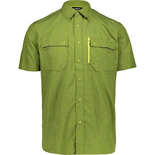 Cmp Camicia a Maniche Corte Dry Function, Uomo, Muschio-Lime, 54