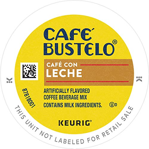 Café Bustelo Café con Leche Flavored Espresso Style Coffee, 96 Keurig K-Cup Pods