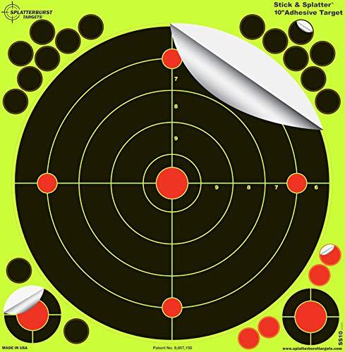 Splatterburst Targets - 10 inch Stick & Splatter Reactive Self Adhesive Shooting Targets - Gun -...