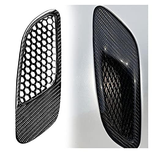 ZZJUN Xxjun Store 80% Caliente 2 PCS Air Vent GRIVE A Prueba de Lluvia Fibra de Carbono Anti-Scratch Exquisite Air Vent Funda Ajuste para BMW 3 Serie E90 E92 E93 M3 2006-2012