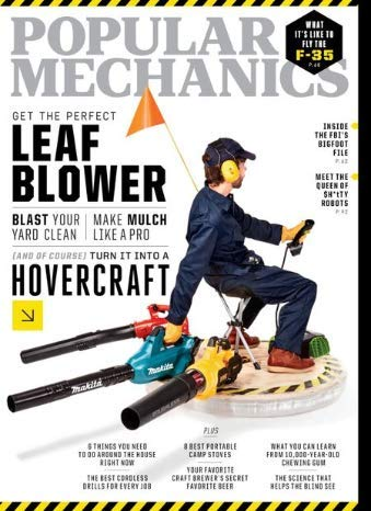 Popular Mechanics Magazine - October 2019 - Get the Perfect Leaf Blower - What It's Like to Fly the F-35 - Inside The FBI's Bigfoot File