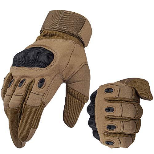 Favoto Guantes para Moto Pantalla Táctil Fibra de Carbono Antideslizante Duro Transpirable...