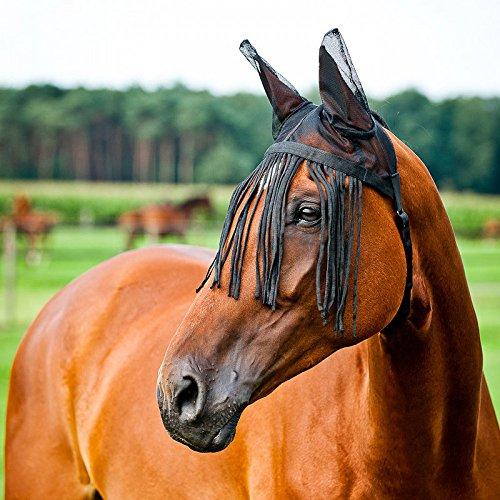 Horze Masque Anti-Mouches avec Bonnet