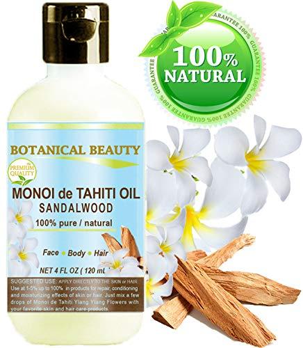 Belleza Botánica MONOI TIARE ACEITE DE TAHITI SANDALWOOD 100% Puro. 4 Fl.oz...