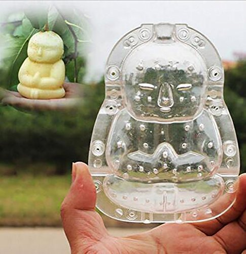 BYyushop Buddha-Shaped Garden Fruits Apple Pear Peach Growth Forming Mold Shaping Tool - Transparent L