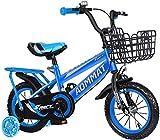 Bicicleta deportiva de seguridad para niños de 2 a 5 años de edad, adecuada para niños y niñas de 12 14 pulgadas de entrenamiento de bicicleta azul_12 pulgadas