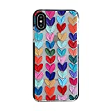 Color Mix Drawing Loving Heart Clear Case for Apple iPhone Xs Max Mobile Phone Basic Cases Shockproof Sides Protect Edges Cover for iPhone Xs Max Accessories (for iPhone Xs Max)