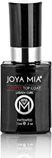 JOYA MIA Professional Top Base Coat Gel Nail Polish Long Lasting Soak Off No Cleaners Needed (15ml, Top Matte)