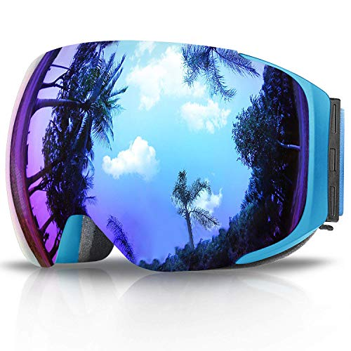 eDriveTech Gafas de esquí, Snowboard de la nieve GogglesMagnetic de lentes...