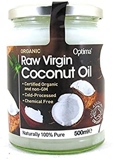 Optima Organic Raw Virgin Coconut Oil 500ml x2 by Optima