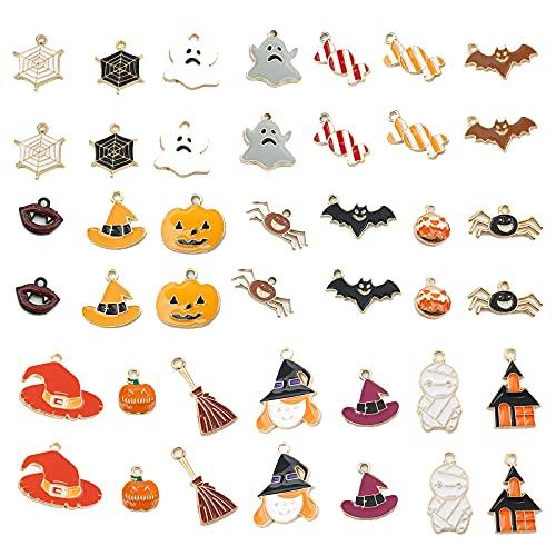 Humidifier 42 Piezas De Vestuario De Halloween Party Pendientes Pendientes Joyería, para Mujeres Spiders Bruja Imprimir Drop Pendientes Set