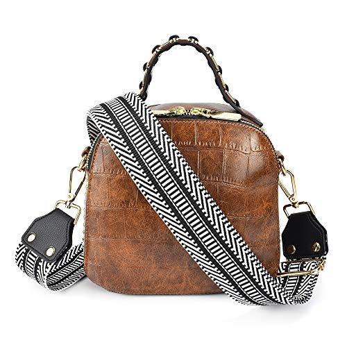 """Professional craftsmanship and detailed stylish design, this wider shoulder strap with high-quality webbing is both lightweight and durable. It can be used as a crossbody strap. Adjustable length(including snap hooks): 39""""~ 60"""".Long enough to wear on..."""