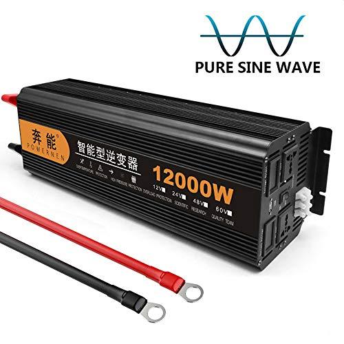 Kymzan Reiner Sinus Wechselrichter 3200 W / 4000 W / 5000 W / 6000 W / 8000 W / 9000 W / 12000 W / 15000 W Spannungswandler DC 12V/24V Auf AC 230V Umwandler - Inverter Konverter,12V-12000W