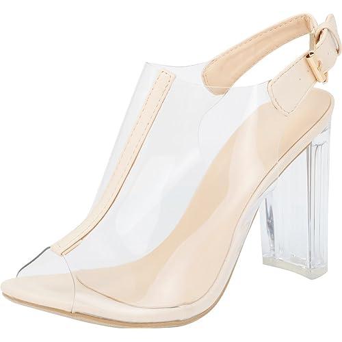 aff2ae17b3598 Clear Shoes Heels: Amazon.com