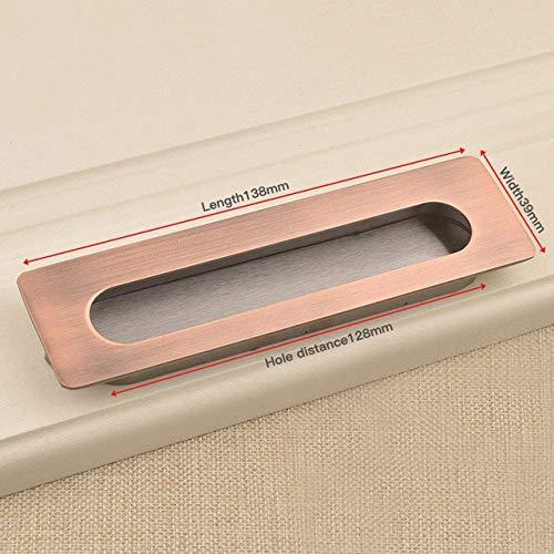 DFG Handle 2pcs Hidden Door Handles Zinc Alloy Tatami Recessed Pull Sliding Door Handles Bedroom Cabinet Handle Furniture Handle Hardware