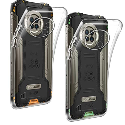HYMY Tasche für DOOGEE S96 Pro Hülle (6.22 Zoll) 2Pcs Transparent Schutzhülle TPU Handytasche DOOGEE S96 Pro -Clear