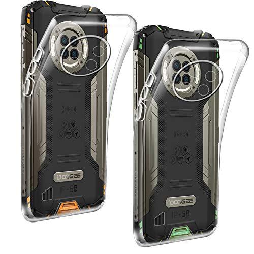 HYMY 2X para DOOGEE S96 Pro Funda (6.22') Protectores - Transparente Carcasa TPU Silicona Suave Gel Caja Cover Tapa Caso Carcasa Cubierta -Clear