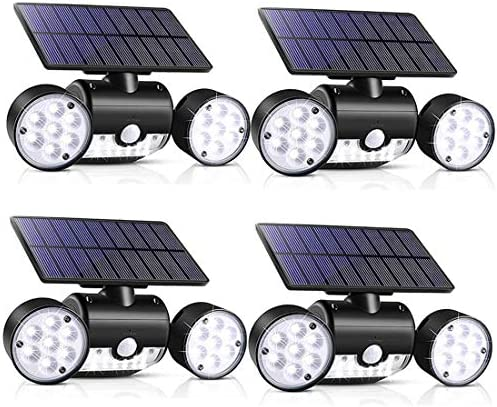 Outdoor Solar Lights 30 LED Solar Security Lights with Motion Sensor Dual Head Spotlights IP65 product image